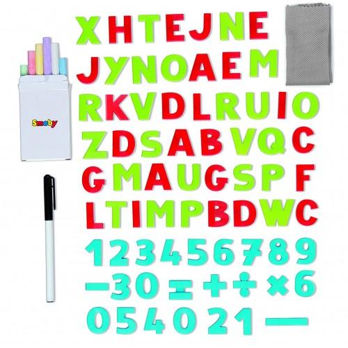 Двухсторонний складной мольберт 2в1 Smoby 410304, 80 элементов