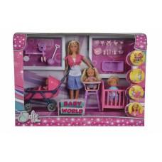Кукольный набор Штеффи с детьми и аксессуарами Simba 5736350