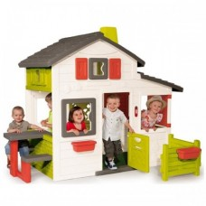 Детский домик c чердаком Friends House Floralie Smoby 310209