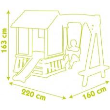 Детский домик с качелей и горкой Smoby 810601