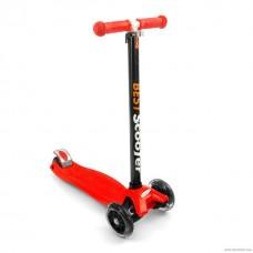 Самокат Best Scooter 466-113 со свет. колесами, руль до 90 см красный