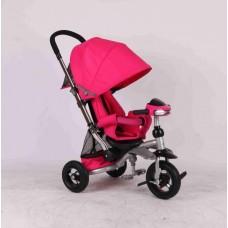 Детский трехколесный велосипед Azimut Crosser T-350  (розовый)
